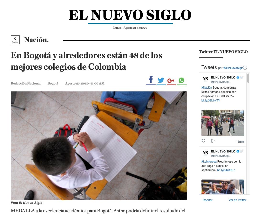 En Bogotá y alrededores están los 48 mejores colegios de Colombia. Felicitaciones el Colegio Abraham Maslow por este logro.